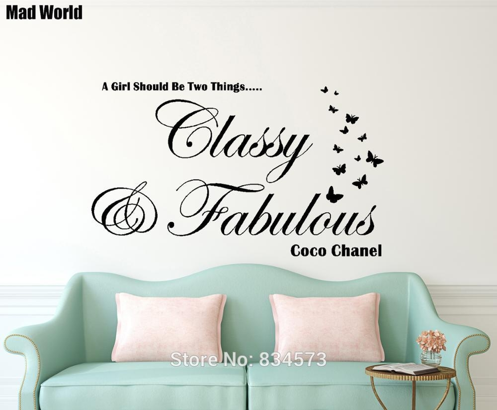 Free Shipping Classy And Fabulous Wall Art Sticker Decal Diy Home In Classy Wall Art (Image 13 of 20)