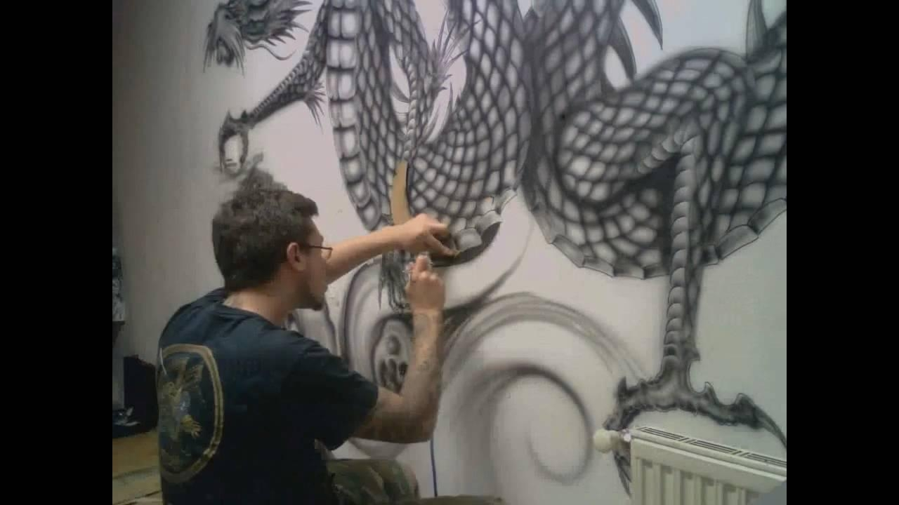 Freehand Airbrush – Youtube Pertaining To Airbrush Wall Art (Image 10 of 20)