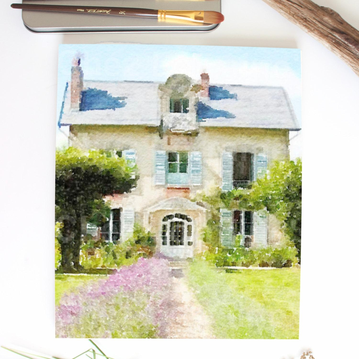 French Country Cottage In Provence: Lavender Floral Art Inside French Country Wall Art (Image 8 of 20)