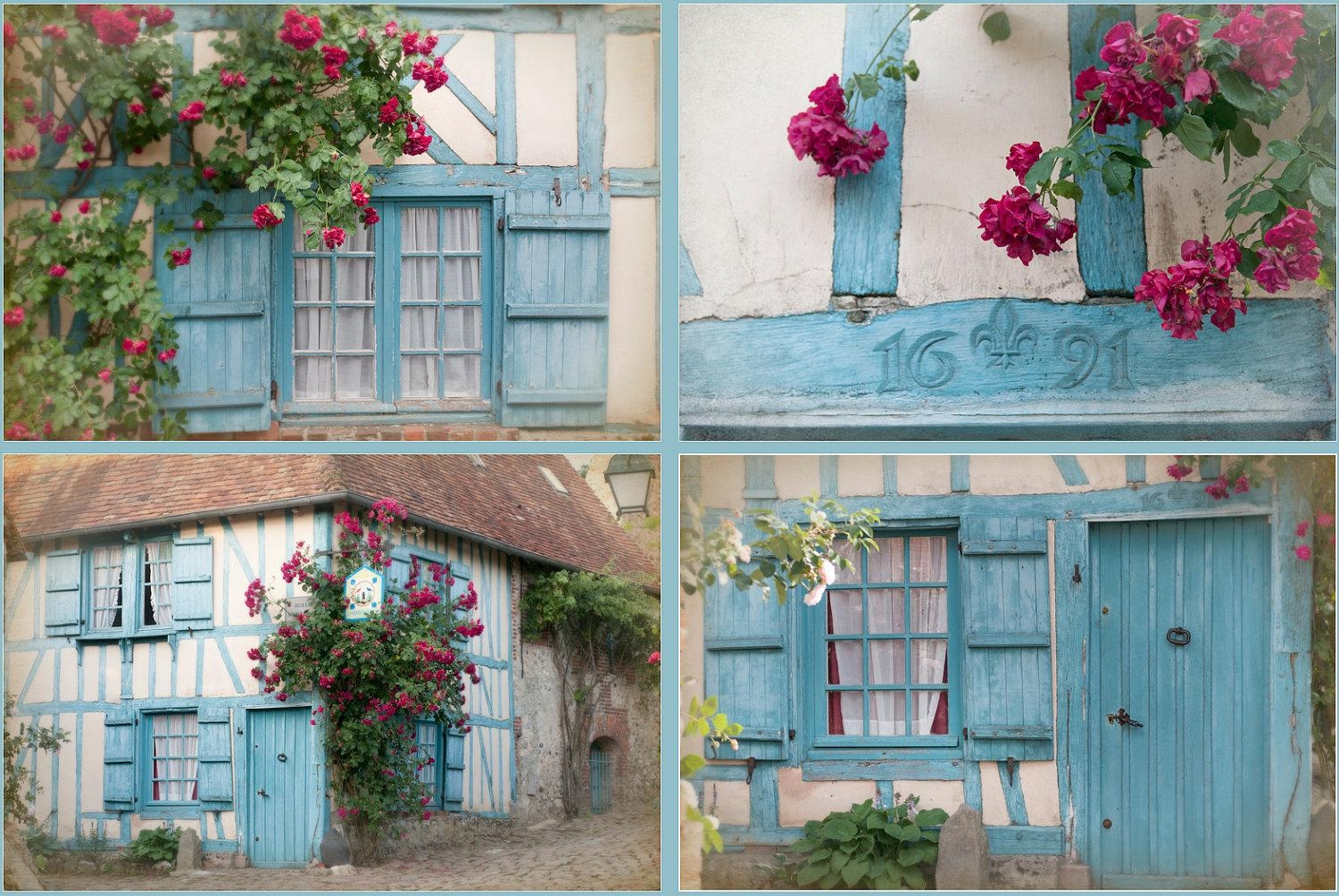 French Country Photos Four Fine Art Photographs Cottage Throughout French Country Wall Art (View 3 of 20)