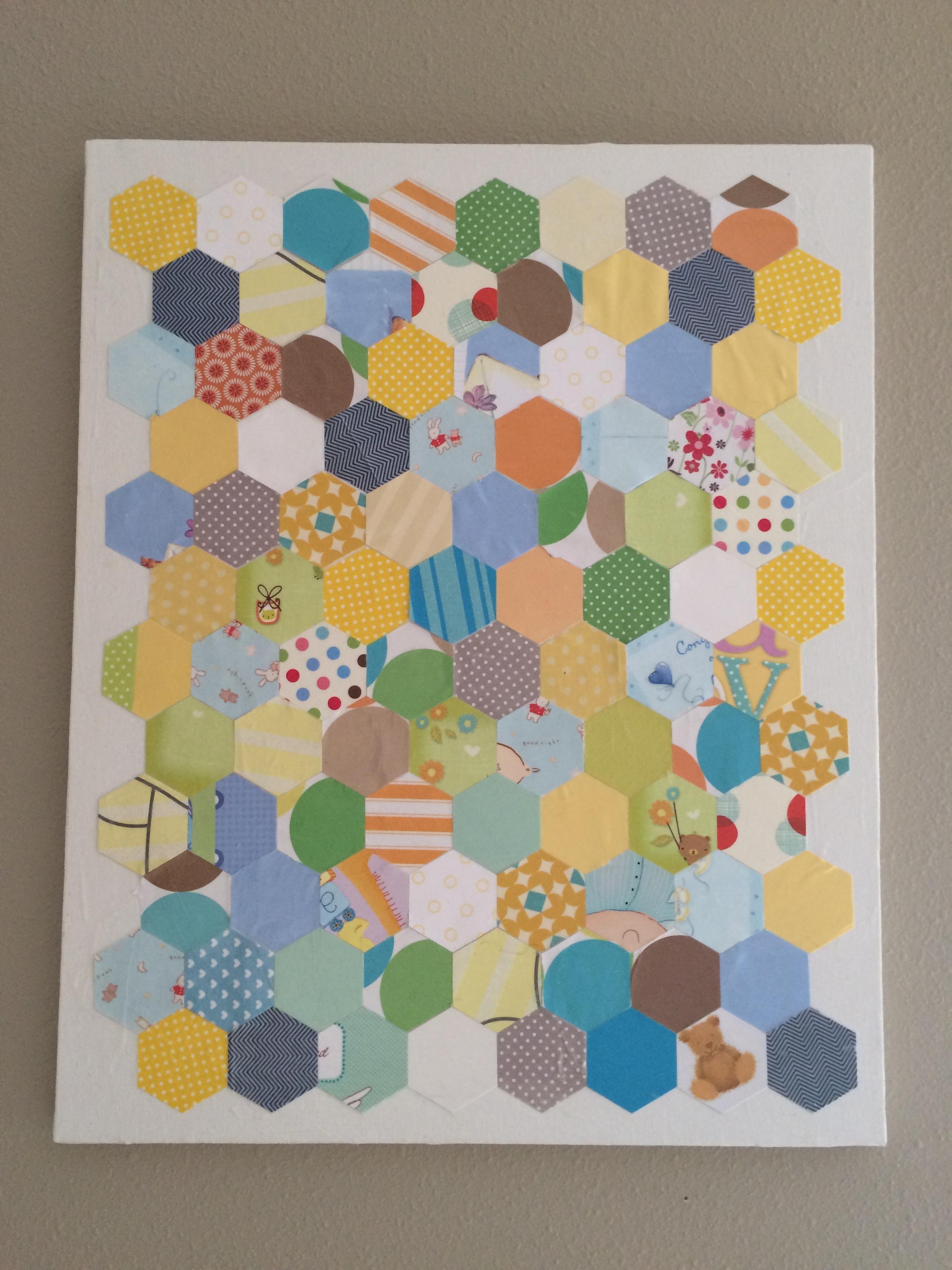 Fresh Nursery Wall Art Ideas: Decoupage, Glue, Sew And Staple Within Decoupage Wall Art (Image 9 of 20)