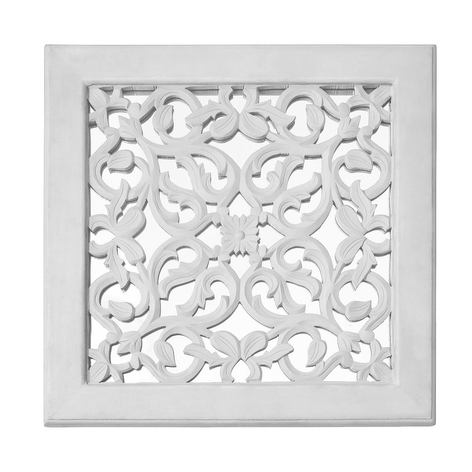 Fretwork Wall Art: White (Set Of 3) | The Yellow Door Store Intended For Fretwork Wall Art (View 8 of 20)