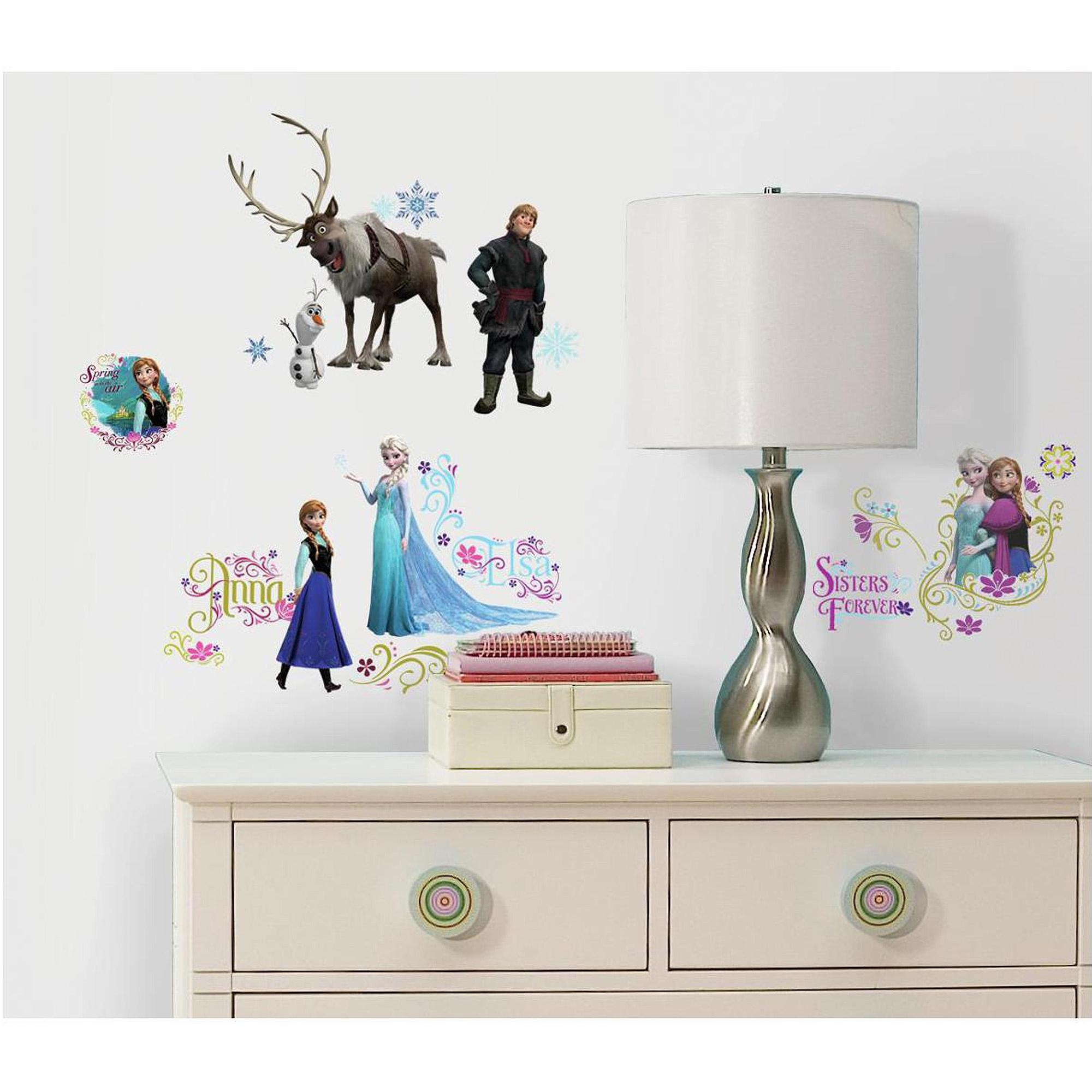 Frozen Peel And Stick Wall Decals – Walmart Regarding Walmart Wall Stickers (View 7 of 20)