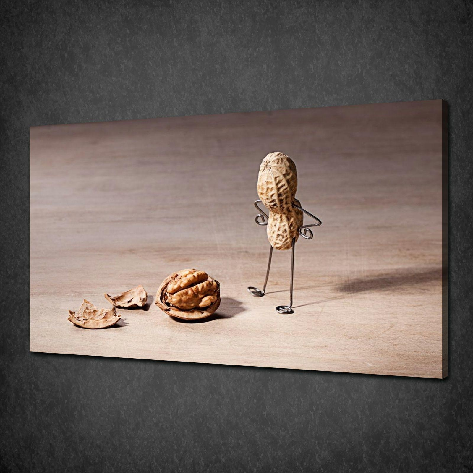 Funky Peanut Kitchen Design Modern Canvas Print Picture Wall Art Intended For Modern Wall Art Uk (Image 14 of 20)