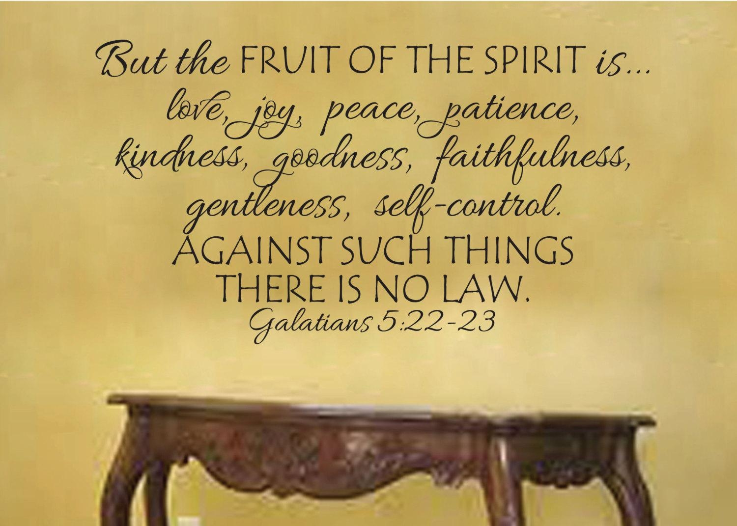Galatians 5:22-23 Fruit Of The Spirit Is Love Joy Peace in Fruit Of The Spirit Wall Art