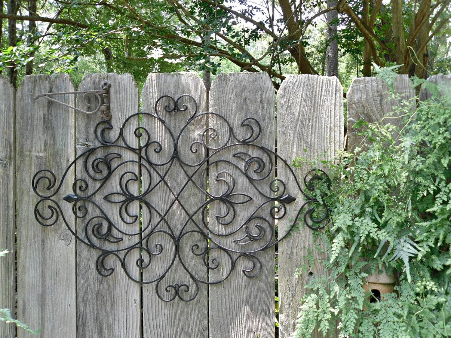 Garden Gate Wall Decor Wrought Iron Kitchen Wall Decor – Miserv In Iron Gate Wall Art (Image 7 of 20)