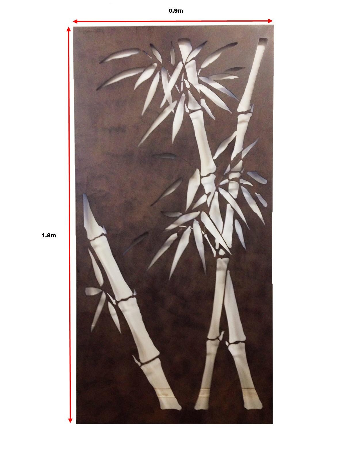 Garden Screens Ebay Decorative Metal Wall Art Bamboo ~ Loversiq for Bamboo Metal Wall Art