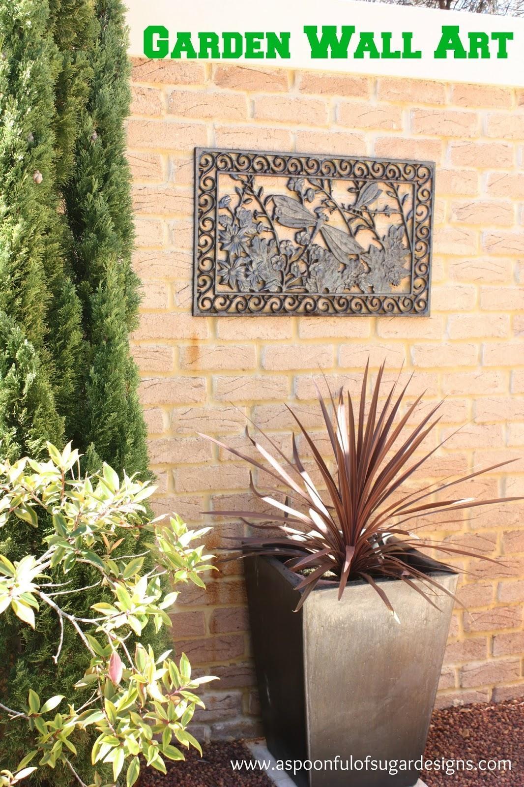 Garden Wall Art - A Spoonful Of Sugar inside Garden Wall Art