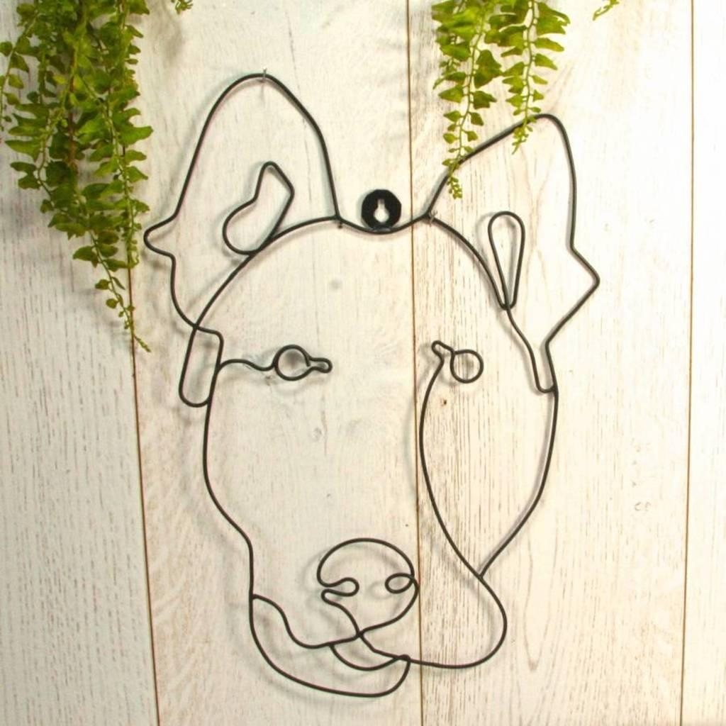 Garden Wall Art Or Topiary Frame Doglondon Garden Trading In Topiary Wall Art (Image 10 of 20)