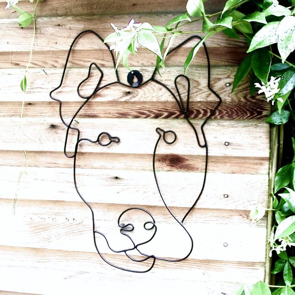 Garden Wall Art Or Topiary Frame Doglondon Garden Trading With Regard To Topiary Wall Art (View 11 of 20)