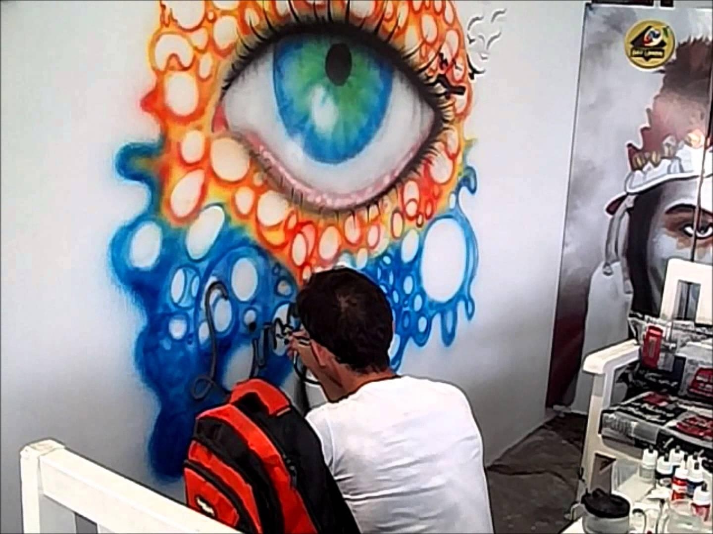 Gelibolu Doğan Dinç Airbrush Painting Eye Paint On Wall Mural Within Airbrush Wall Art (Image 11 of 20)