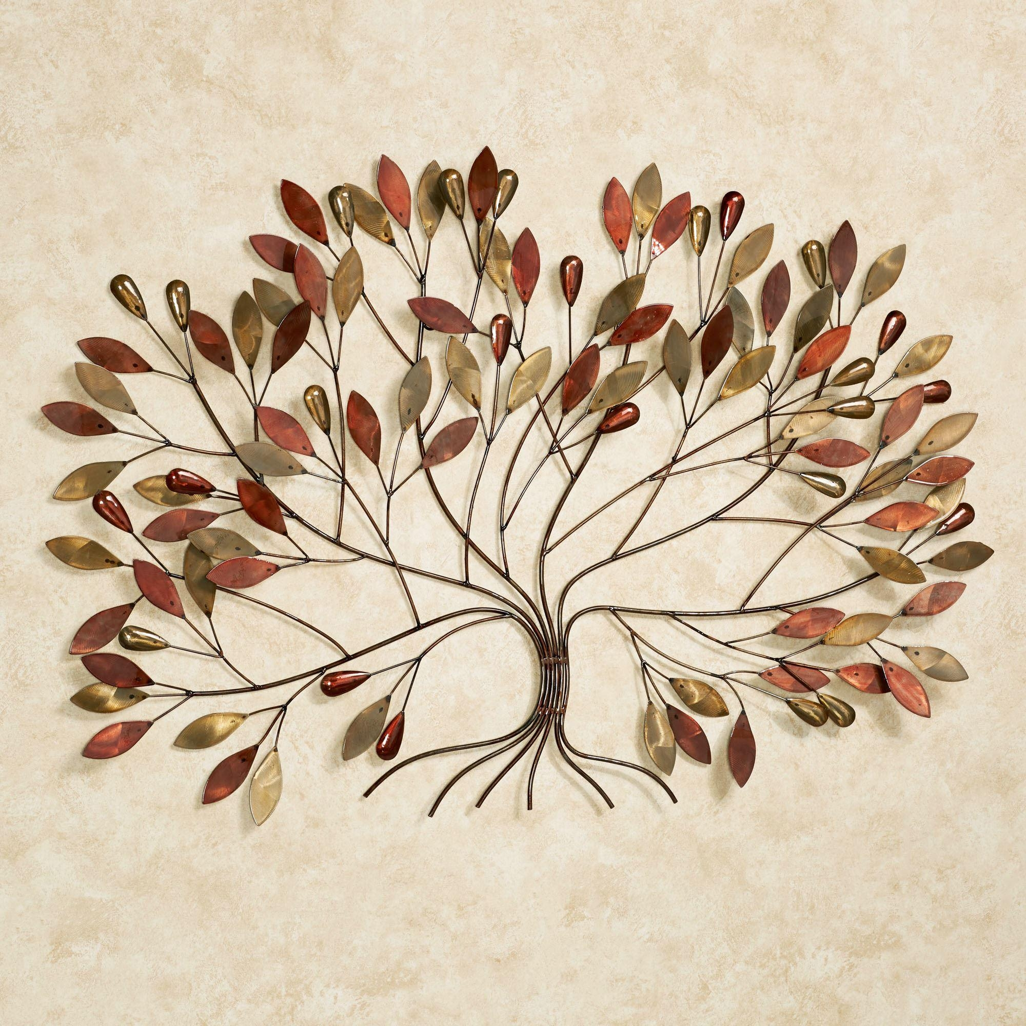 Gentle Breeze Fall Tree Metal Wall Art With Regard To Metal Wall Art (View 7 of 20)