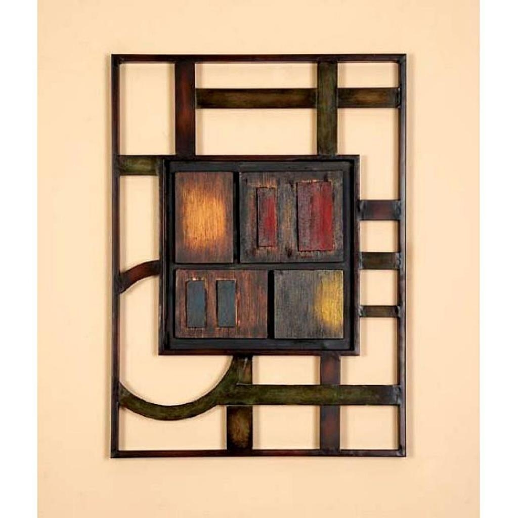 Geometric Modern Metal Abstract Wall Art 12732391 Overstock Throughout Metal Abstract Wall Art (View 4 of 20)