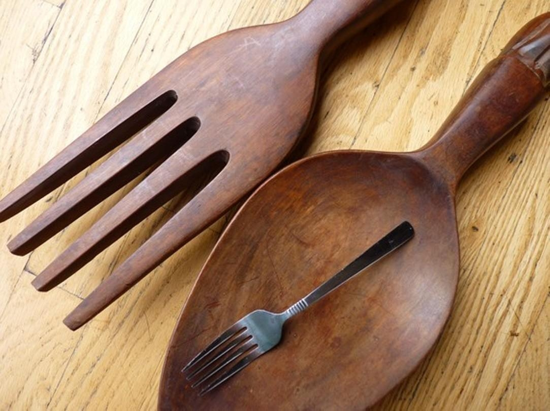 Giant Knife Fork And Spoon Wall Art : Giant Fork And Spoon Wall With Regard To Giant Fork And Spoon Wall Art (Image 8 of 20)