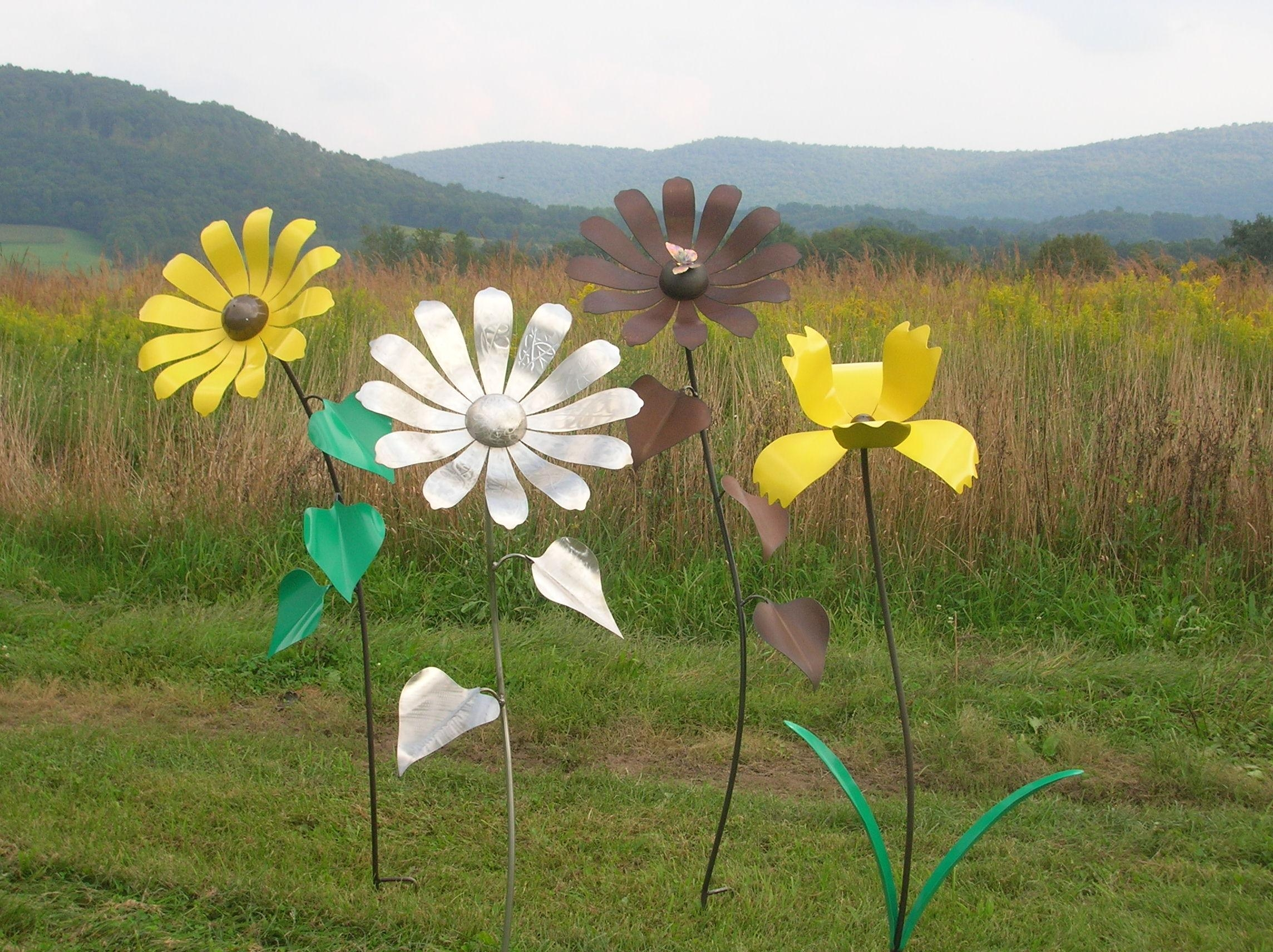 Giant Sunflowers | Shull's Metal Fab Throughout Metal Sunflower Yard Art (Image 13 of 20)