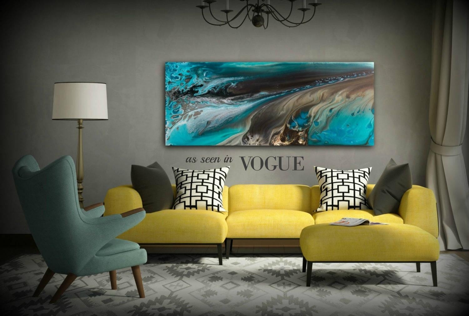 Giclee Prints Art Abstract Painting Coastal Home Decor Modern For Coastal Wall Art Canvas (Image 9 of 20)