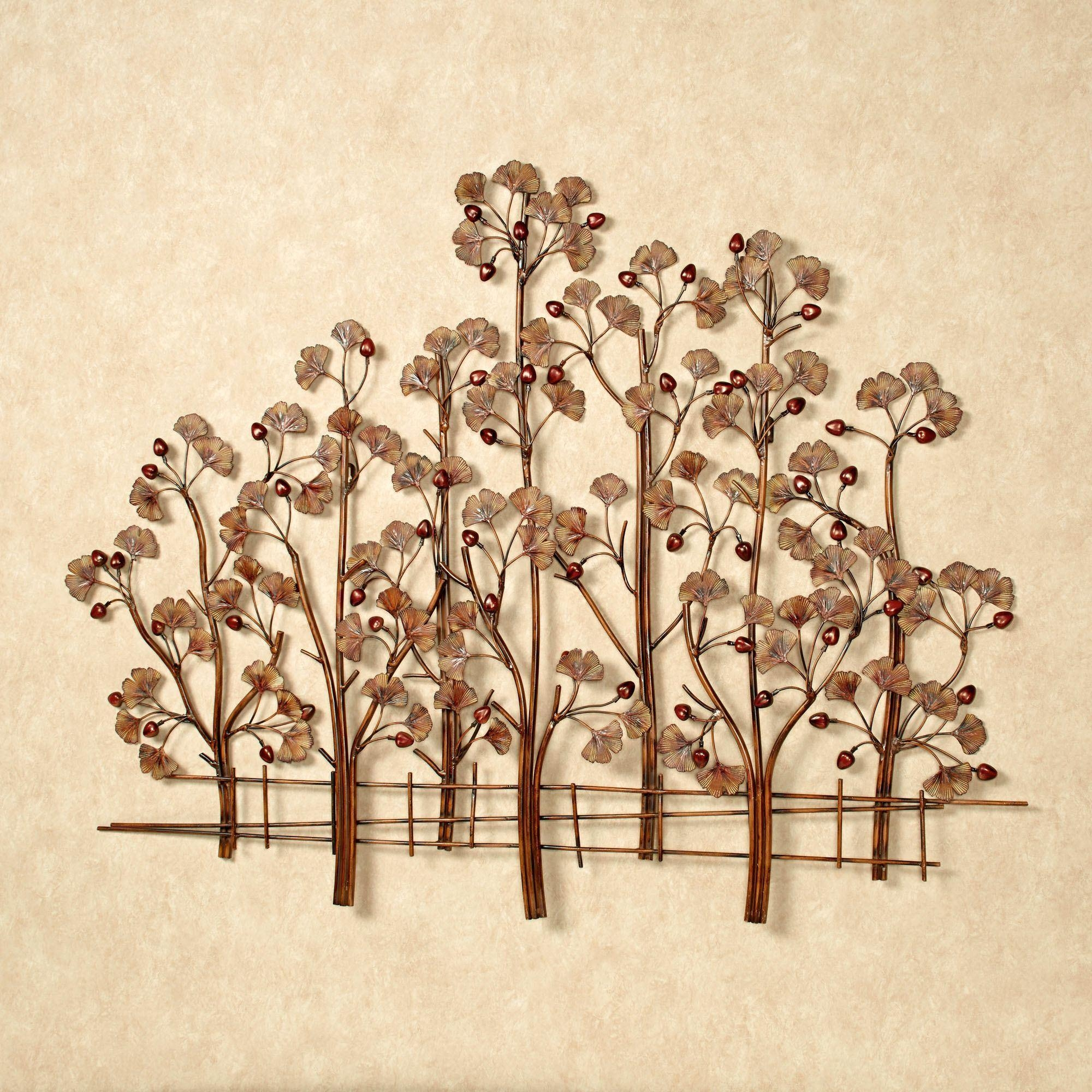 Ginkgo Tree Metal Wall Sculpture Intended For Tree Sculpture Wall Art (Image 6 of 20)