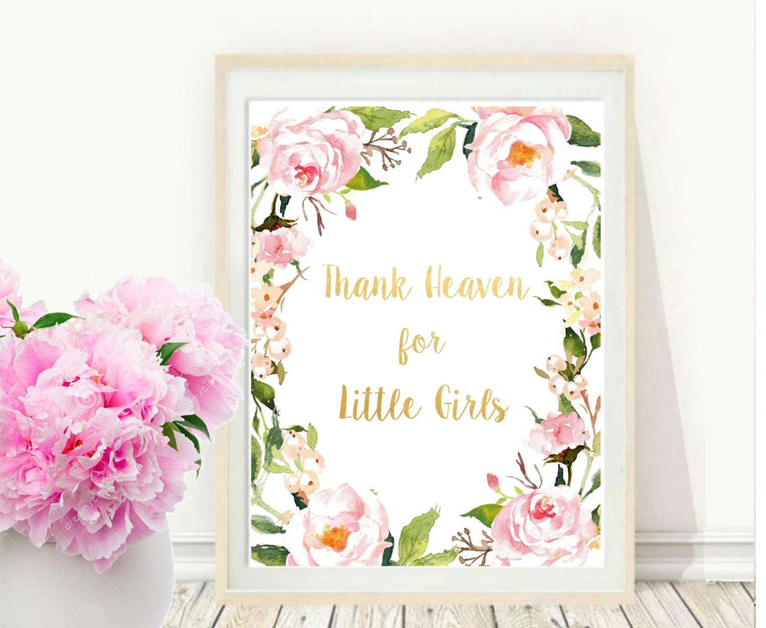 Girl Nursery Wall Art Thank Heaven For Little Girls With Little Girl Wall Art (Image 8 of 20)