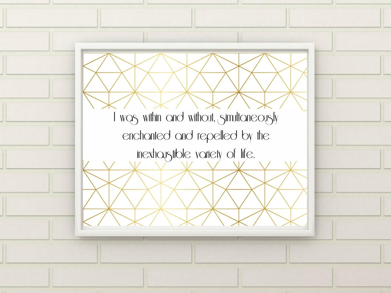 Gold Great Gatsby Quote Geometric Wall Art, Gatsby Artwork, Great intended for Great Gatsby Wall Art