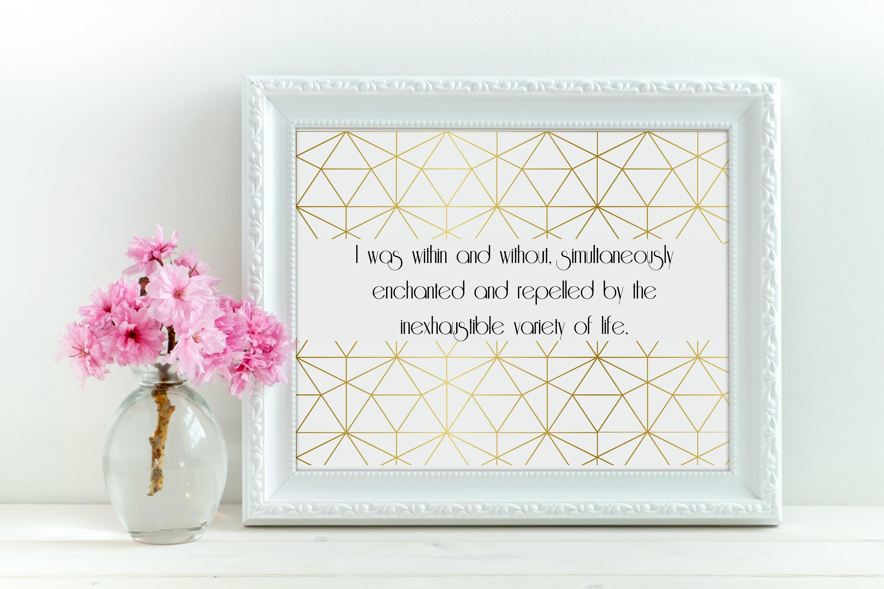 Gold Great Gatsby Quote Geometric Wall Art, Gatsby Artwork, Great With Regard To Great Gatsby Wall Art (View 8 of 20)