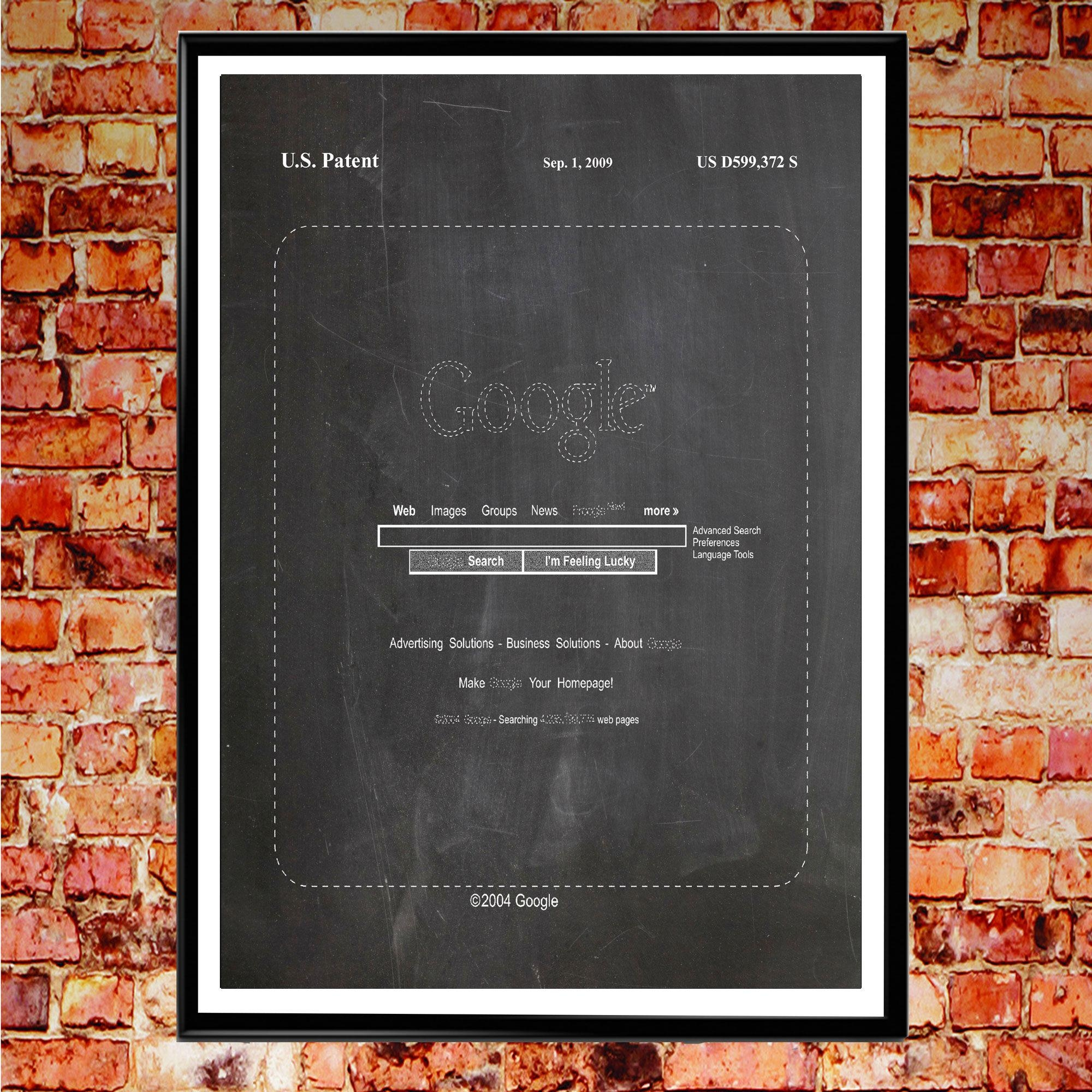 Google Homepage Patent Print Google Search Patent Google Translate Within Computer Wall Art (Image 13 of 20)