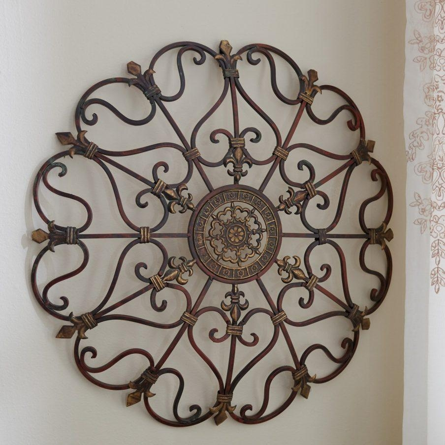 Gorgeous Contemporary Circle Metal Wall Art Arteriors Apollo Large With 3D Metal Wall Art (Image 7 of 20)