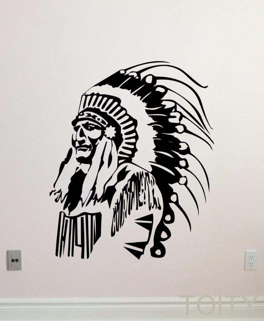Gorgeous Design Decor Native American Wall Decal Native American inside Native American Wall Art