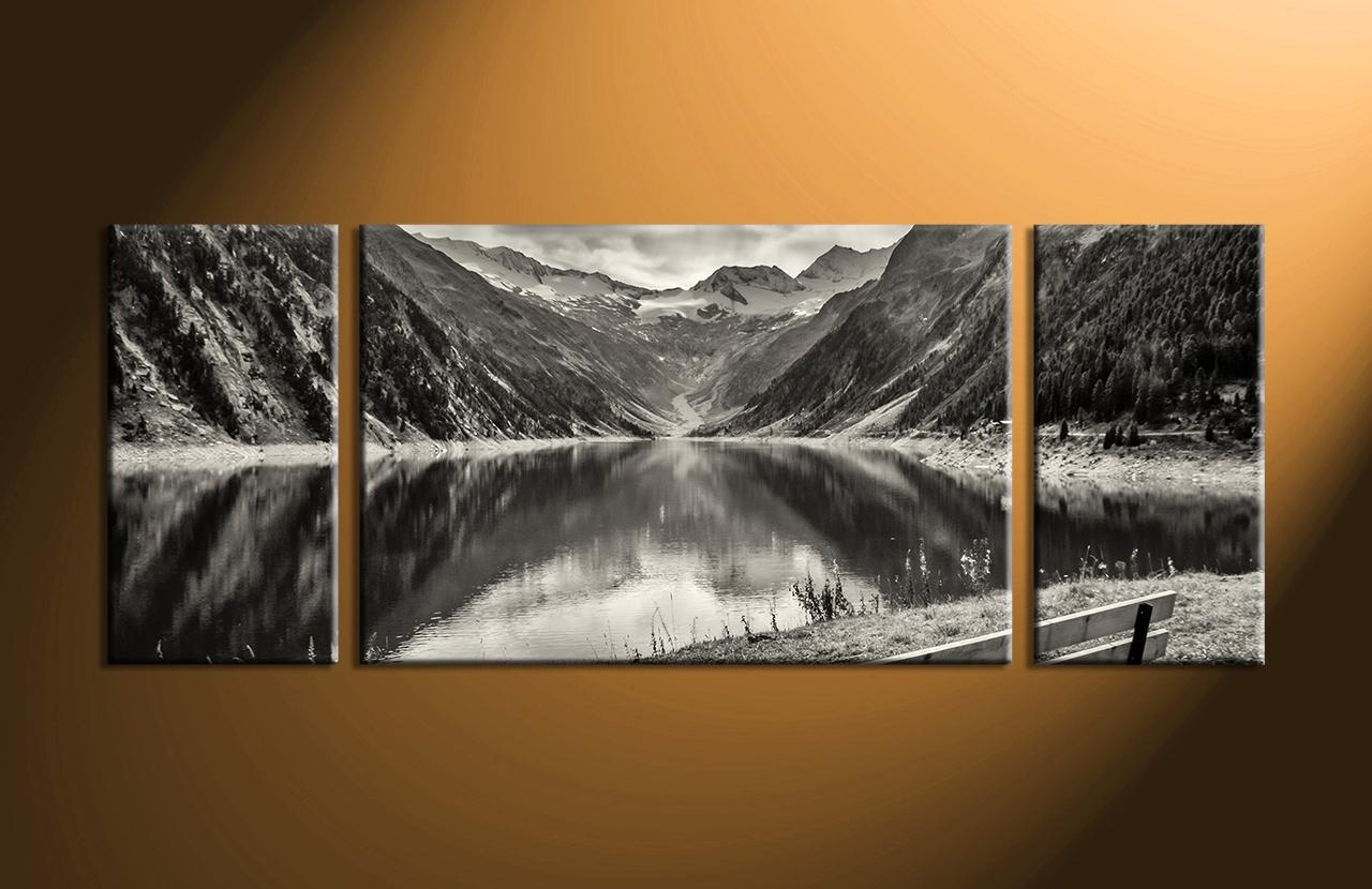 Gorgeous Landscape Wall Art Stickers Home Wall Decor Piece Design Throughout Wall Art Multiple Pieces (Image 1 of 20)