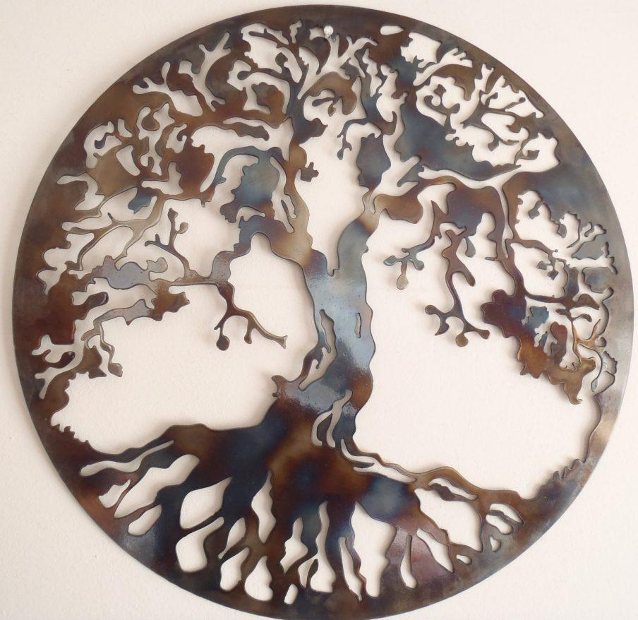 Gorgeous Trendy Wall Metal Art Decor Imax Decorative Metal Wall Regarding Celtic Tree Of Life Wall Art (Image 9 of 20)
