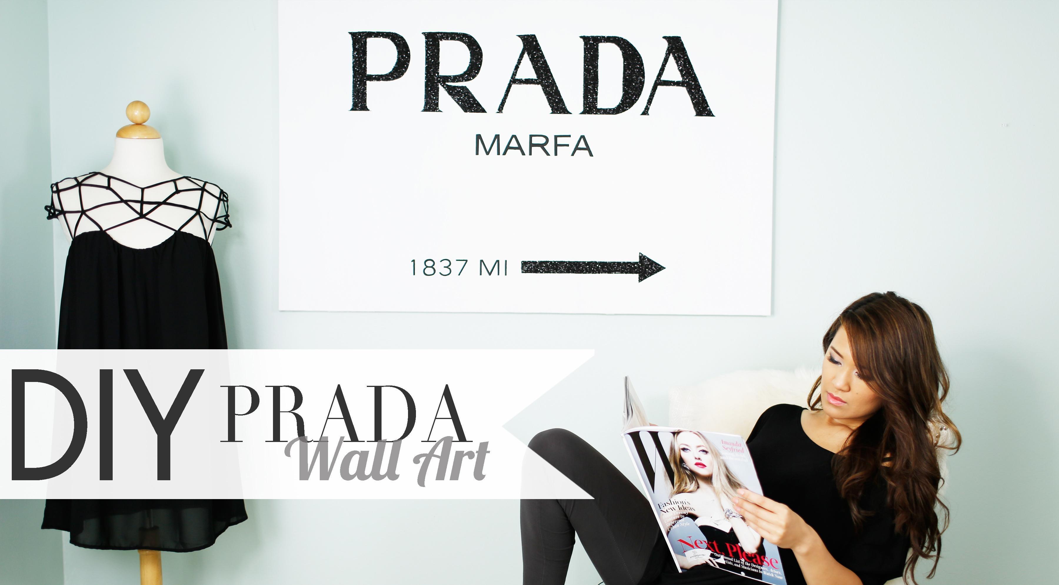 Gossip Girl Prada Wall Art – Ann Le Style inside Prada Marfa Wall Art