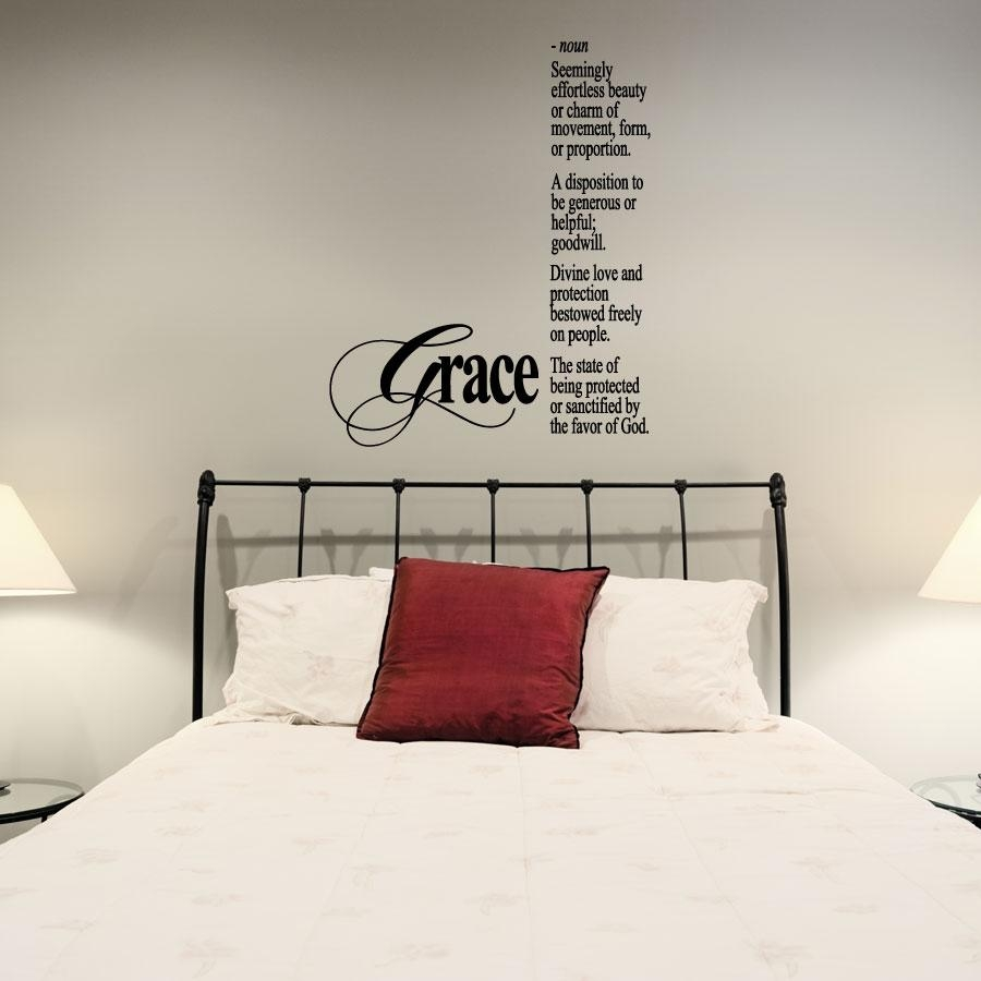 Grace Wall Art Decals with regard to Grace Wall Art