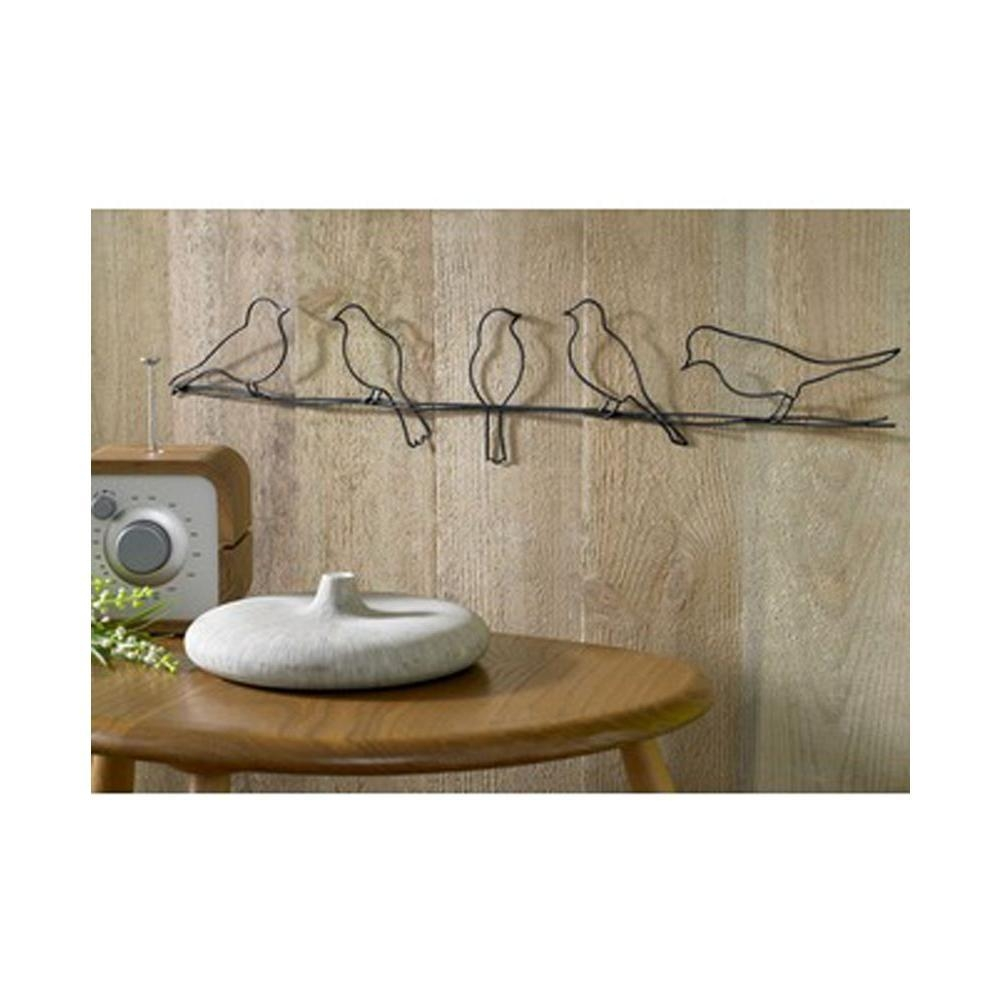 "Graham And Brown 24 In. X 5 In. ""bird On A Wire""graham And within Graham & Brown Wall Art"