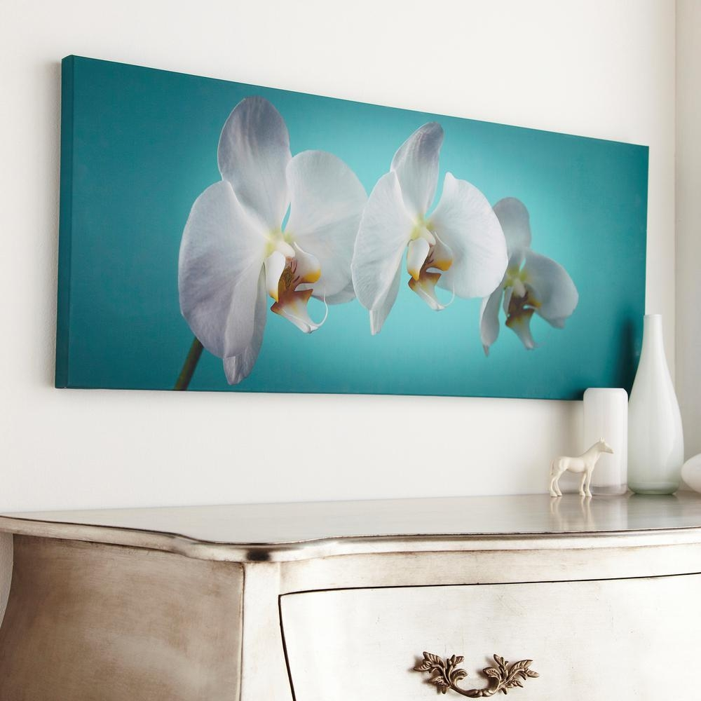 "Graham And Brown 39 In. X 16 In. ""teal Orchid""graham And Brown with regard to Graham & Brown Wall Art"