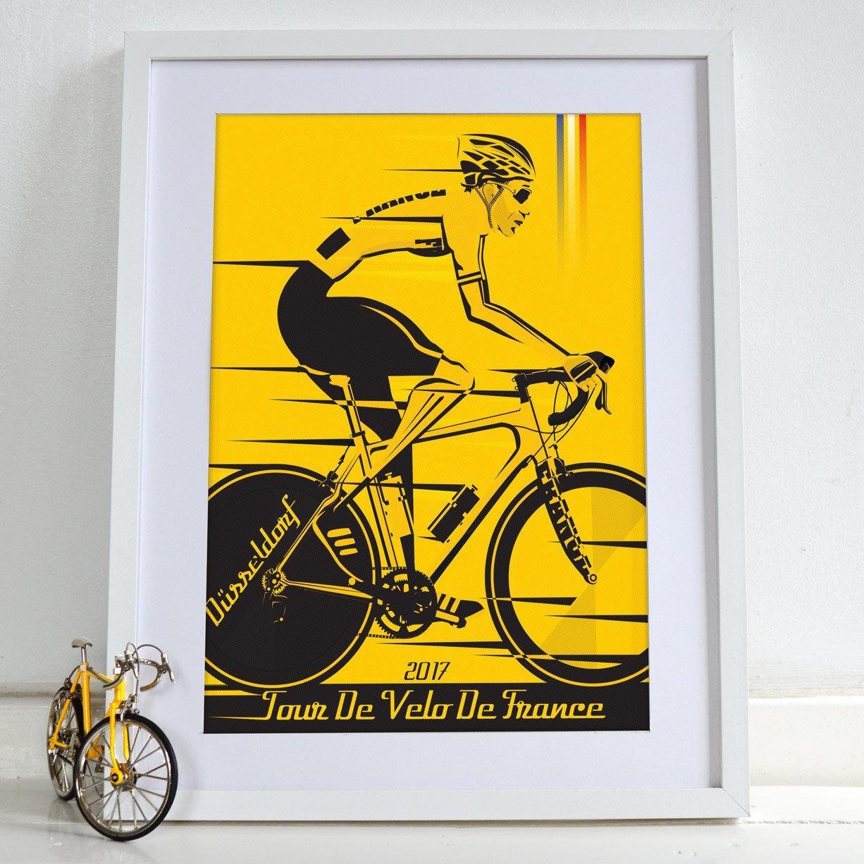 Grand Depart Düsseldorf Tour De France 2017 Bicycle Bike Throughout Cycling Wall Art (Image 9 of 20)