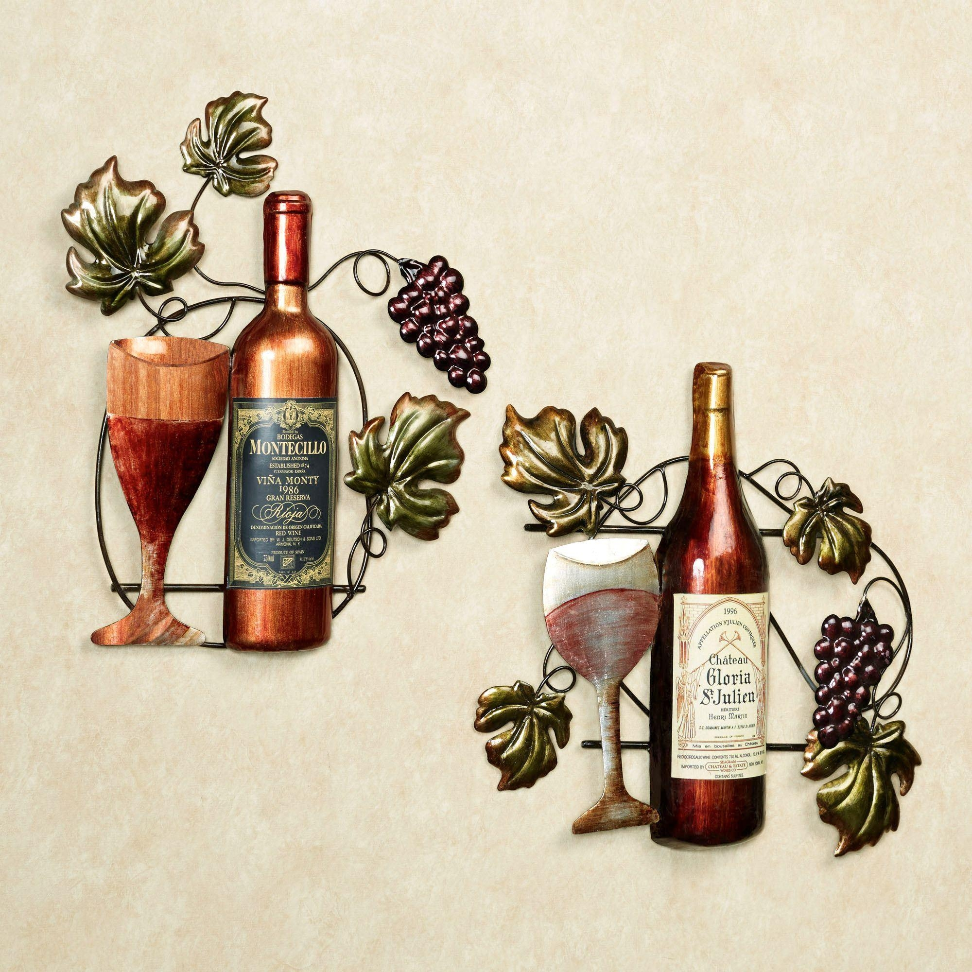 Grapes And Wine Art | Touch Of Class intended for Wine Metal Wall Art