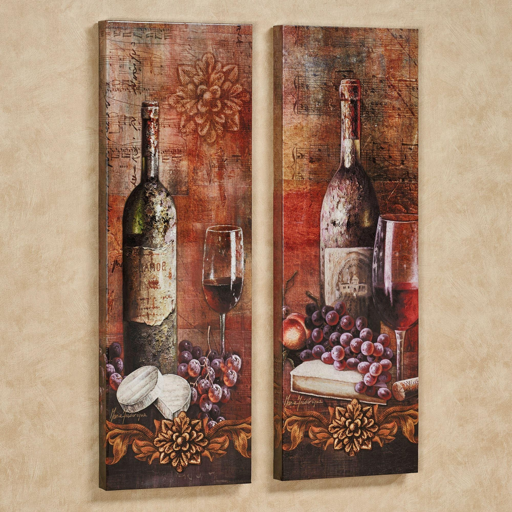 Grapes Kitchen Decor | Touch Of Class with regard to Grape Wall Art