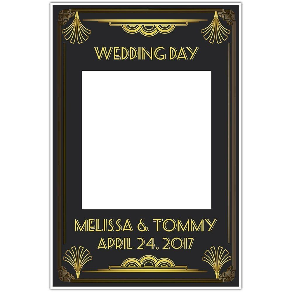 Great Gatsby Art Deco Wedding Selfie Frame Photo Booth Prop Poster inside Great Gatsby Wall Art