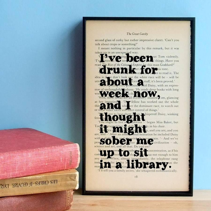 Great Gatsby Book Quotes Like Success Inside Great Gatsby Wall Art (View 15 of 20)