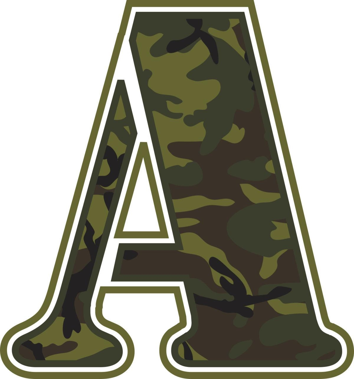 Green Camo Wall Letters | Potty Training Concepts Regarding Camouflage Wall Art (Image 10 of 20)