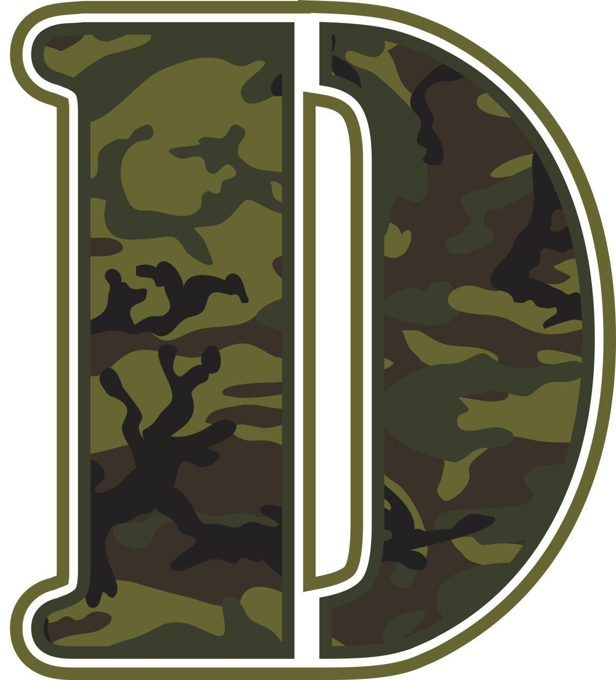 Green Camo Wall Letters | Potty Training Concepts Throughout Camouflage Wall Art (Image 11 of 20)