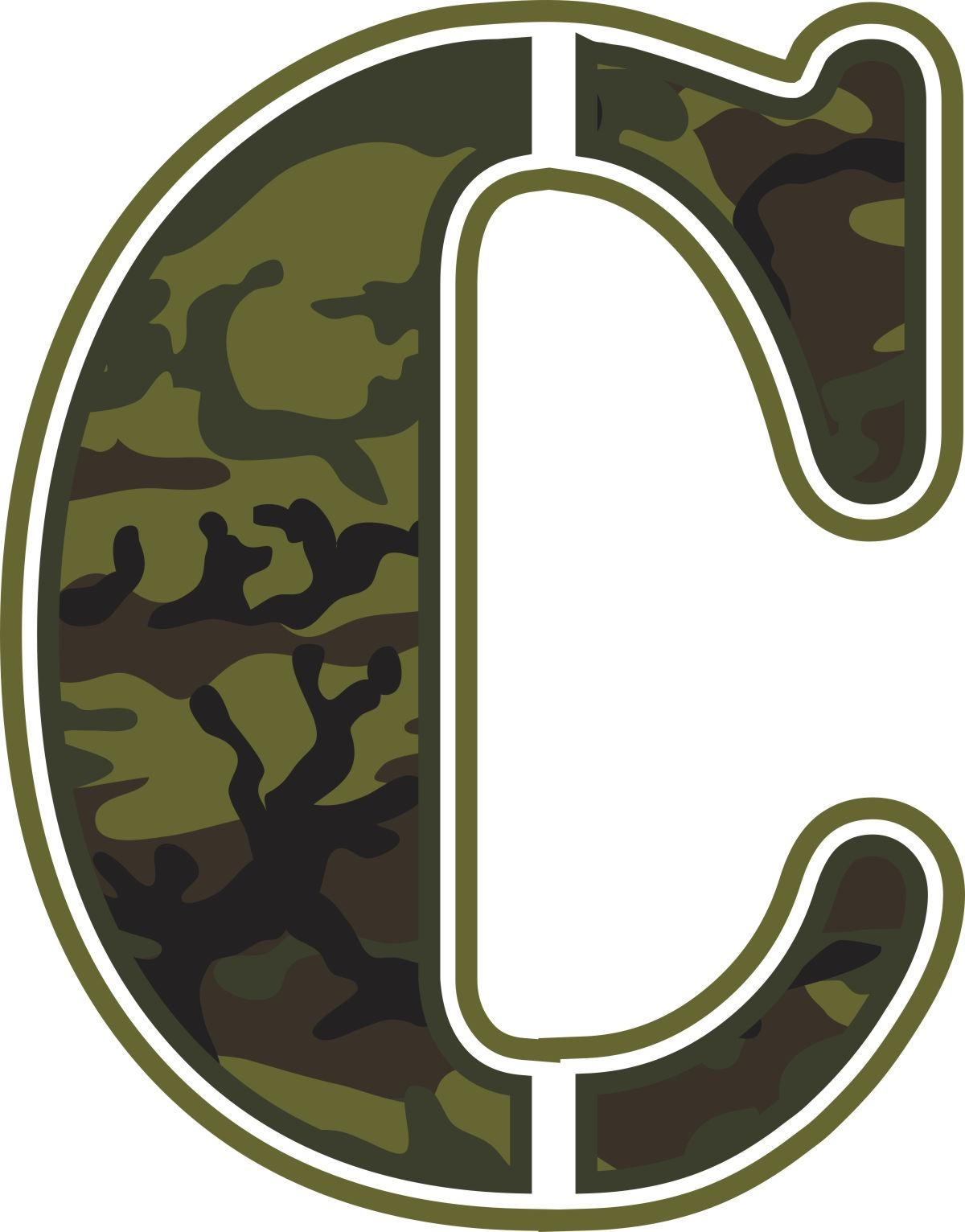 Green Camo Wall Letters | Potty Training Concepts With Camouflage Wall Art (Image 12 of 20)