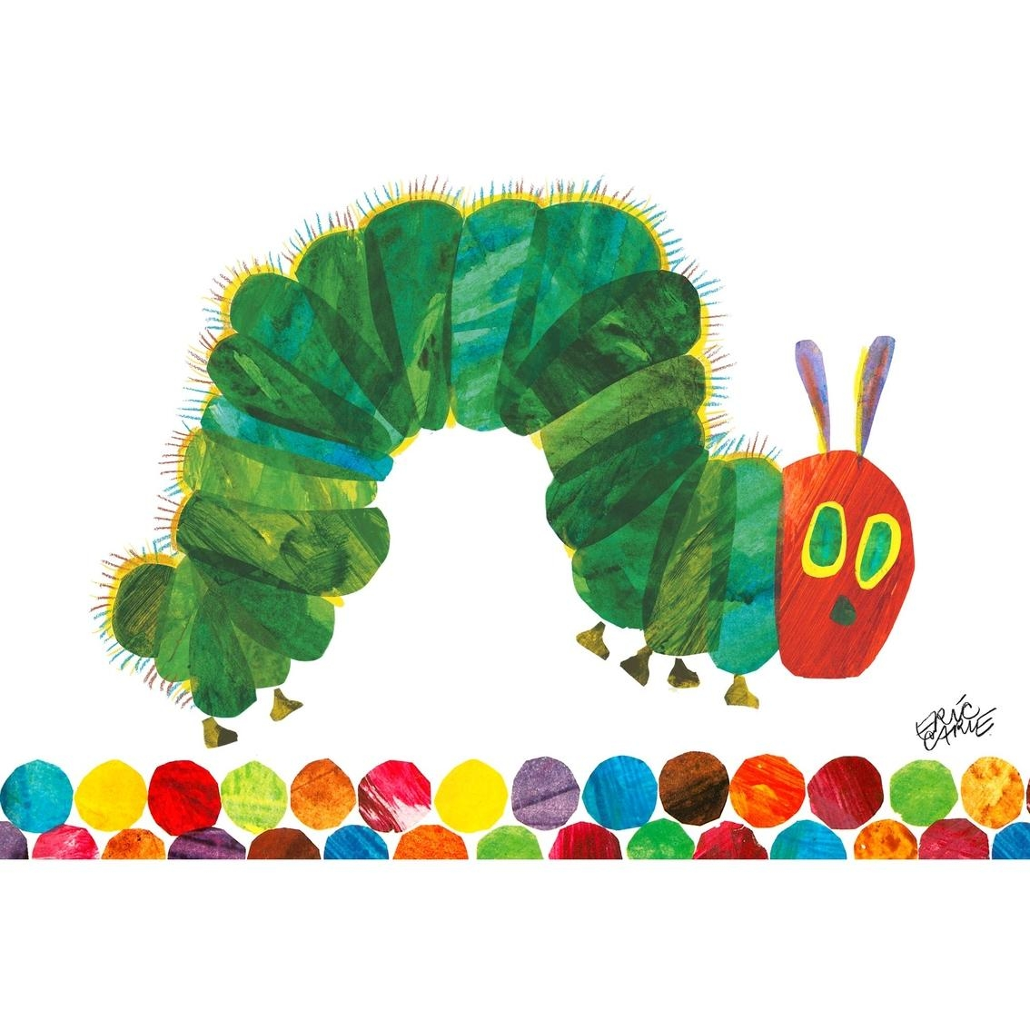Greenbox Art 24 X 18 Eric Carle's The Very Hungry Caterpillar Throughout Very Hungry Caterpillar Wall Art (Image 9 of 20)
