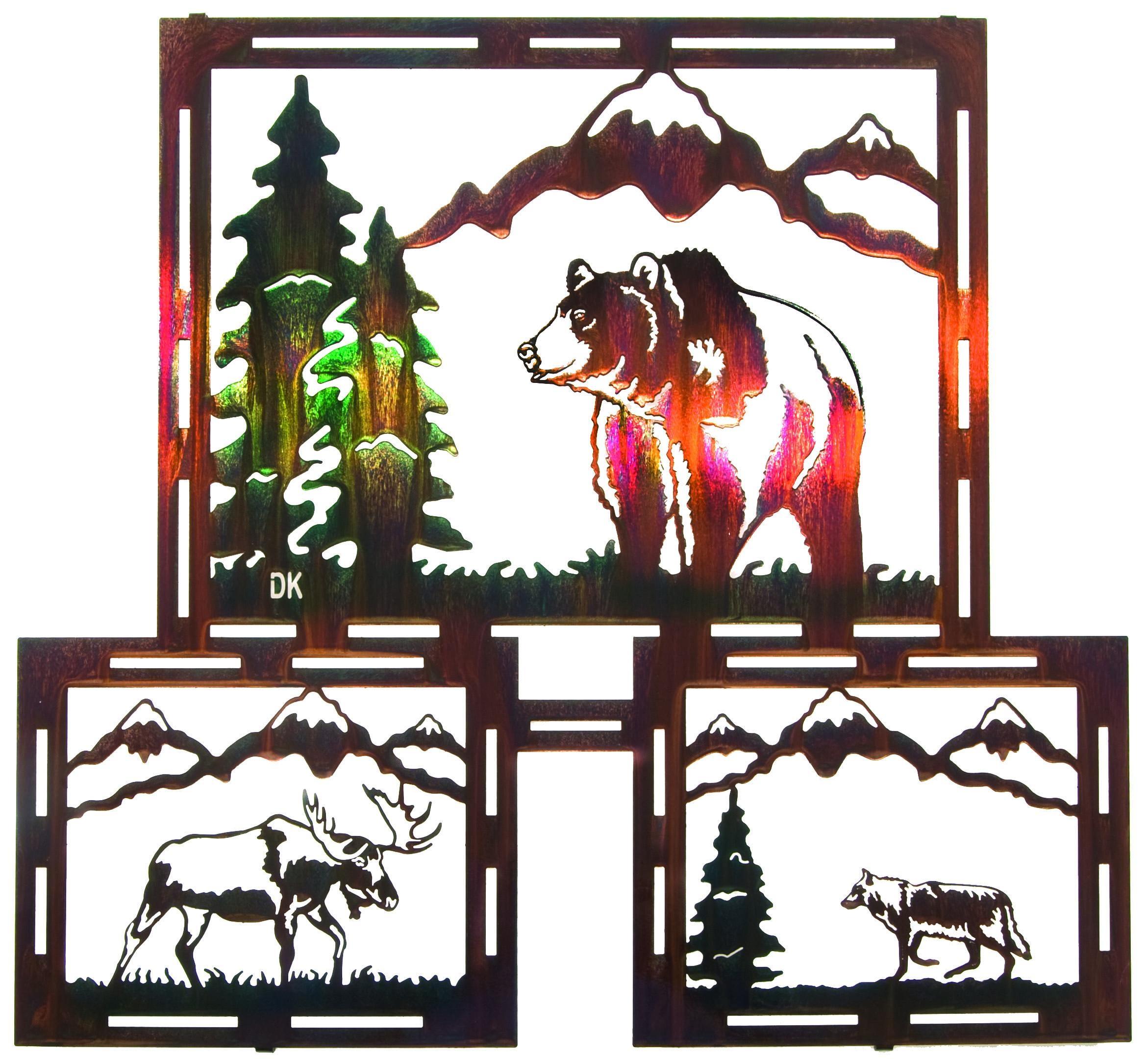 Grizzily – Wolf – Mooselazart – Sanger Metal Art And Gifts Throughout Lazart Metal Art (View 19 of 20)