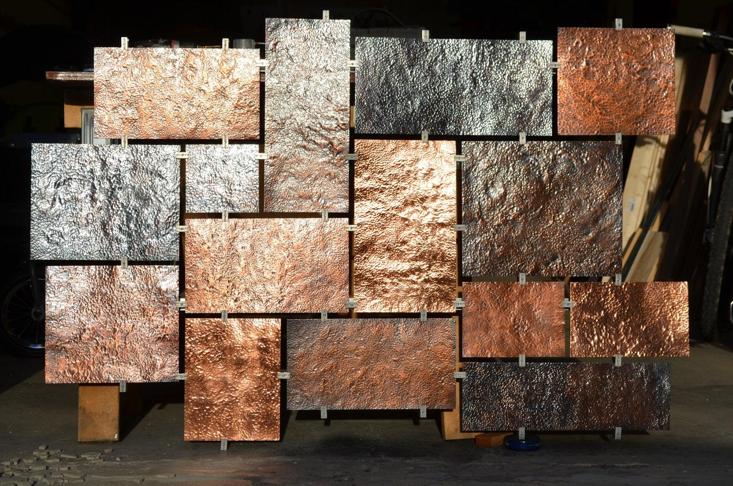 Hammered Copper Wall Art for Large Copper Wall Art