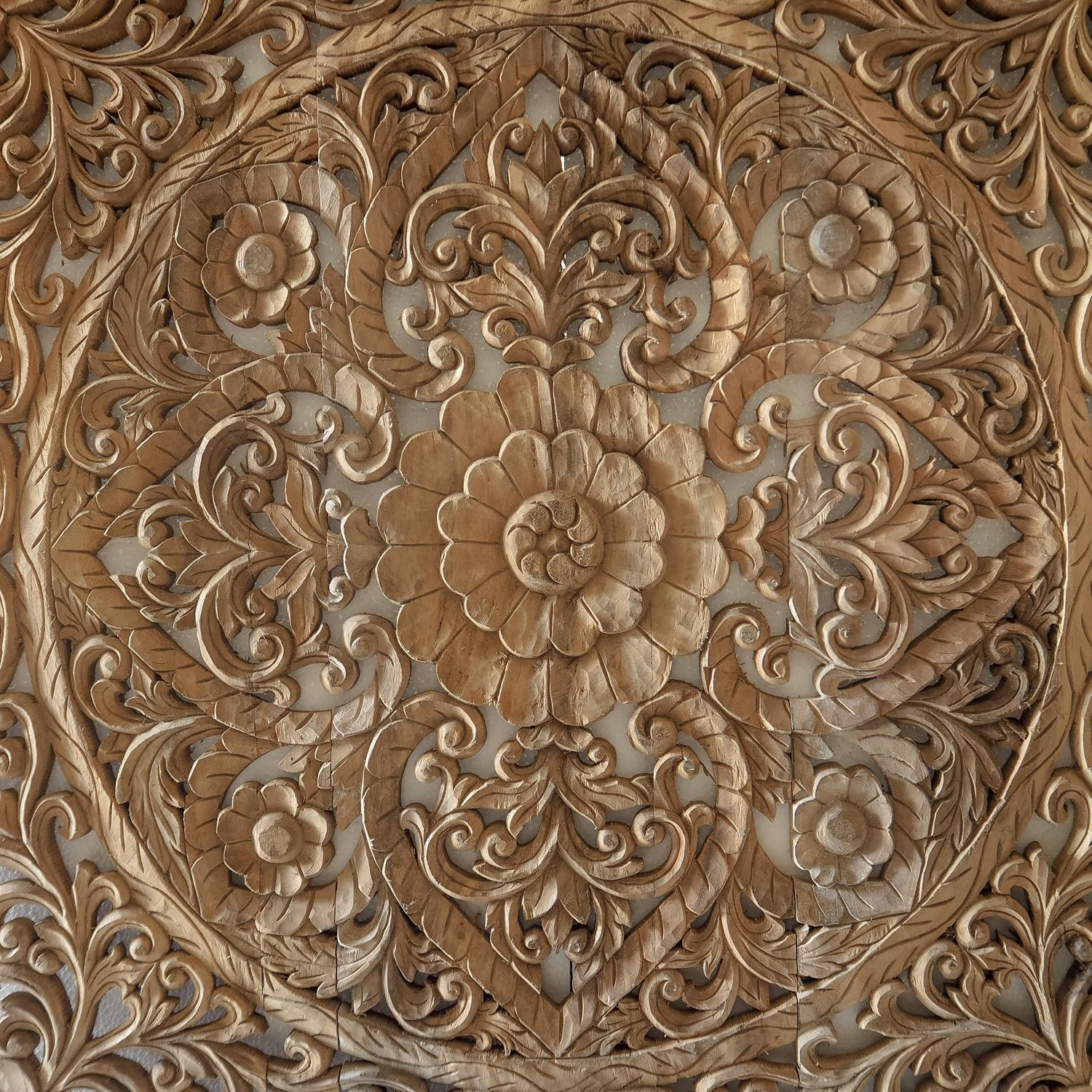 Hand Carved Wall Panel From Bali – Siam Sawadee Pertaining To Wood Carved Wall Art Panels (Image 7 of 20)
