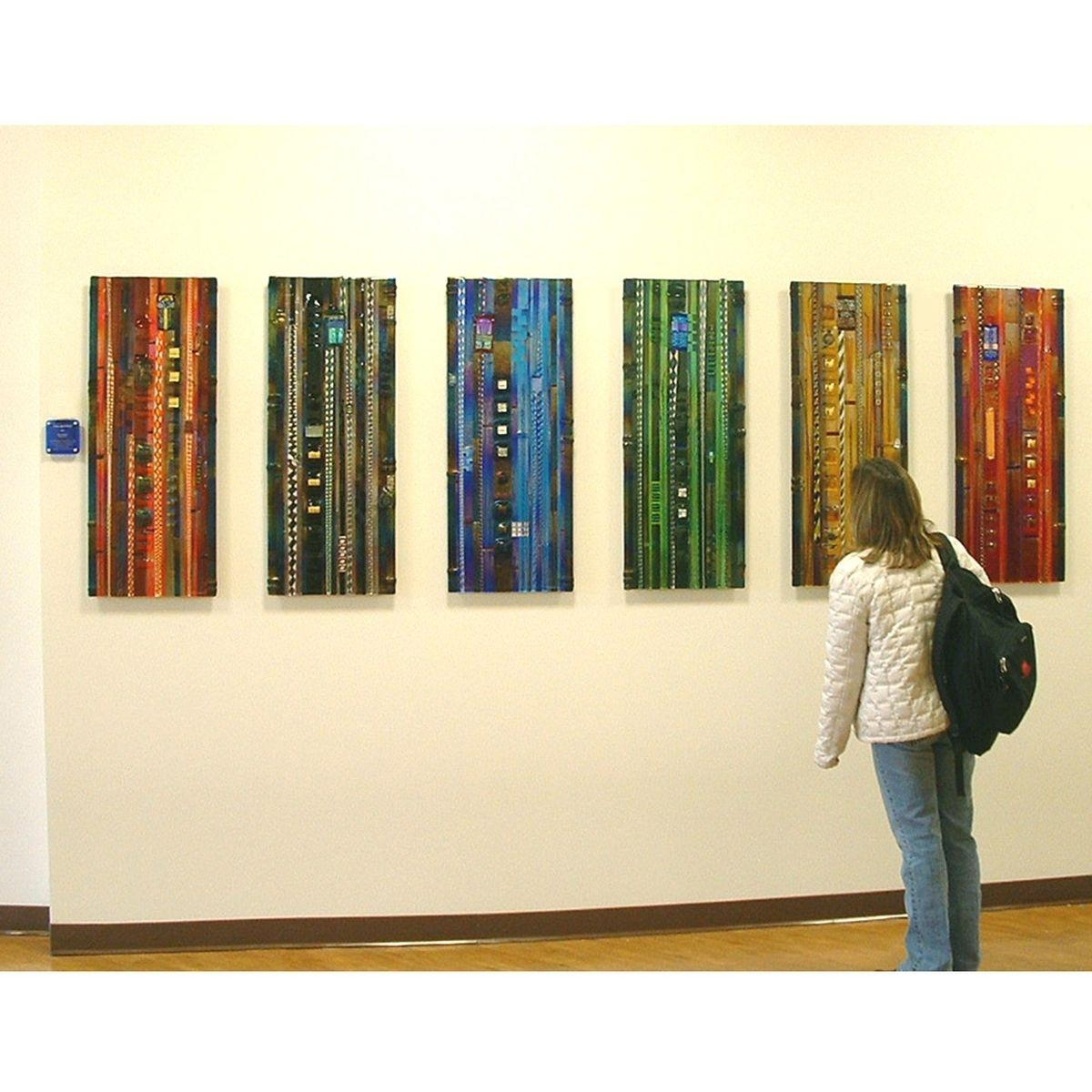 Hand Made Colorado Colors, Glass Wall Panel Installation, Mesa Inside Fused Glass Wall Art Panels (View 10 of 20)