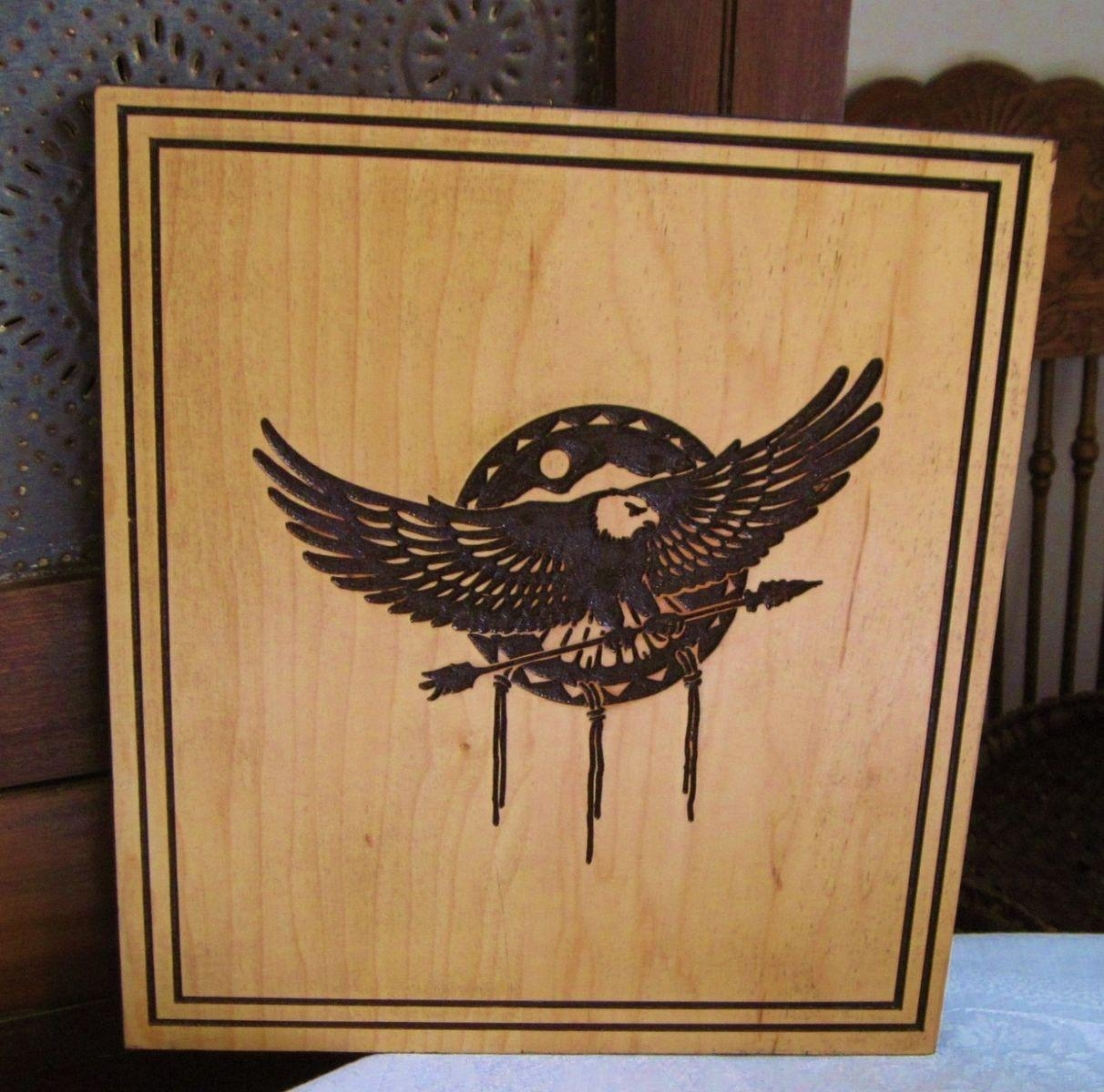 Hand Made Native American Indian Inspired Eagle And Mandela in Native American Wall Art