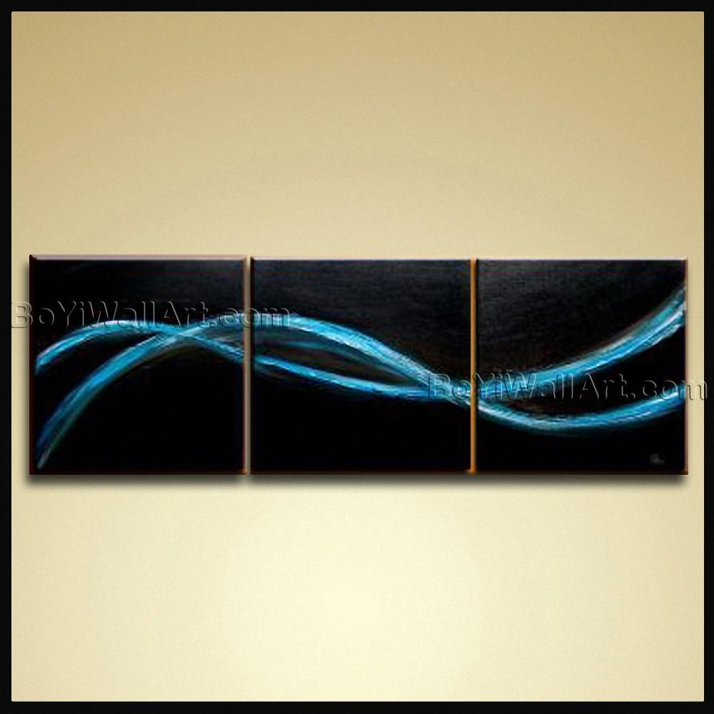 Hand Painted Oil Painting Canvas Contemporary Abstract Wall Art Inside Abstract Wall Art (View 3 of 20)