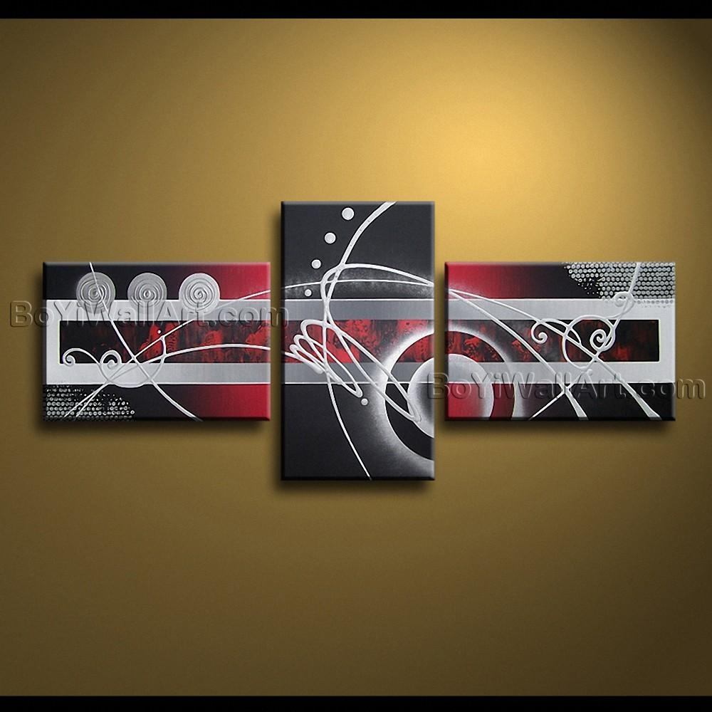 Hand Painted Oil Painting On Canvas Modern Abstract Wall Art With Abstract Wall Art (View 17 of 20)