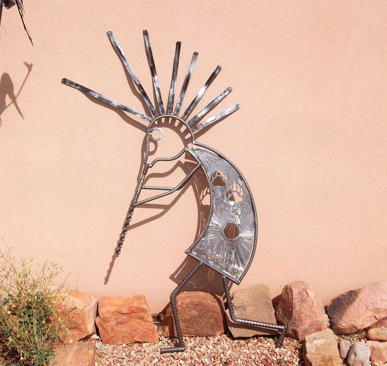 Handmade Garden Art, Home Decor,outdoor Sculpture Kokopelli Regarding Kokopelli Metal Wall Art (Image 11 of 20)